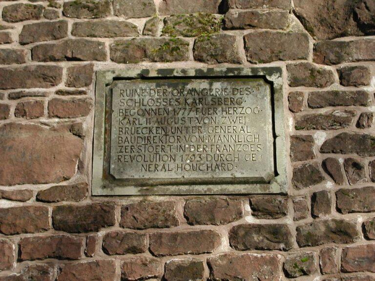 Stiftung_Karlsberger_Hof_Orangerie_Inschrift